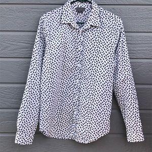Zara Man pelican l/s button up shirt